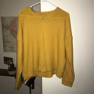 2 for $13! Mustard yellow open back sweater